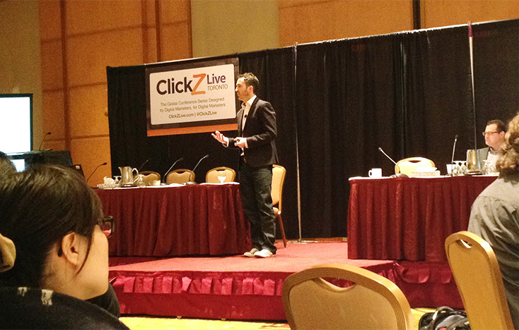Nick Drew speaking at ClickZ Live Toronto 2014